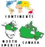 Map of Continents/North America/Canada