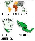Picture of Continents, North American, and Mexico